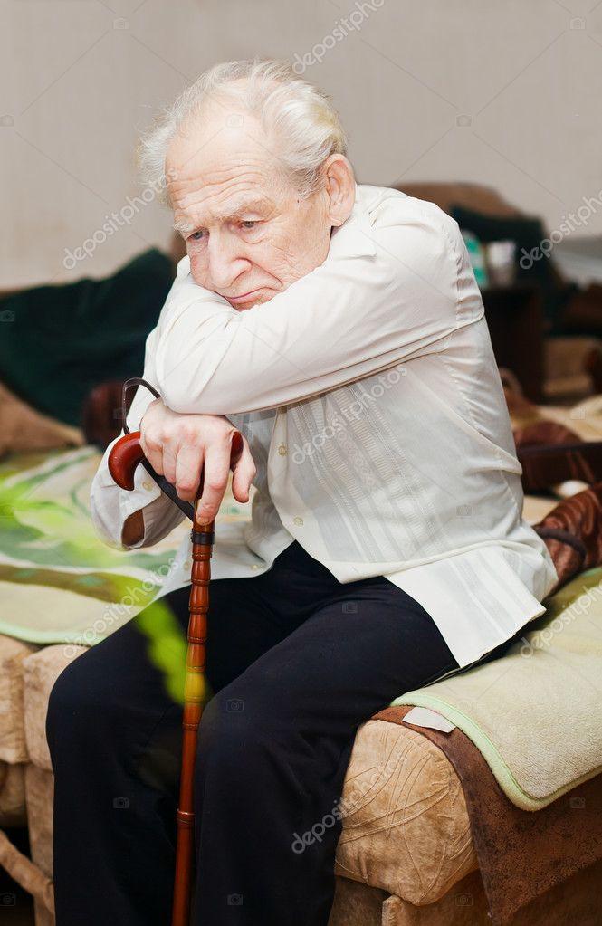 Homme solitaire sexe triste de photographie
